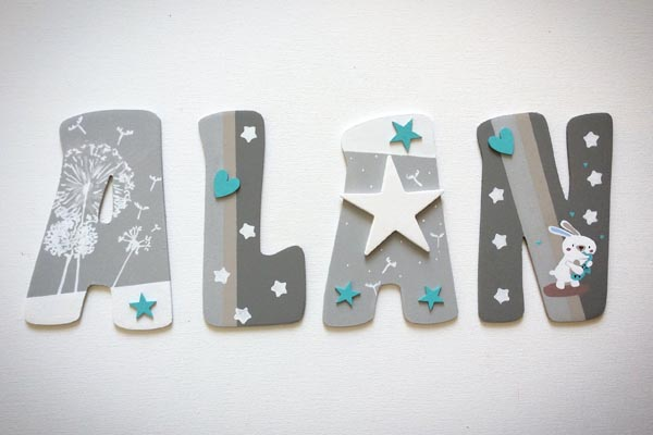 lettres en bois Alan