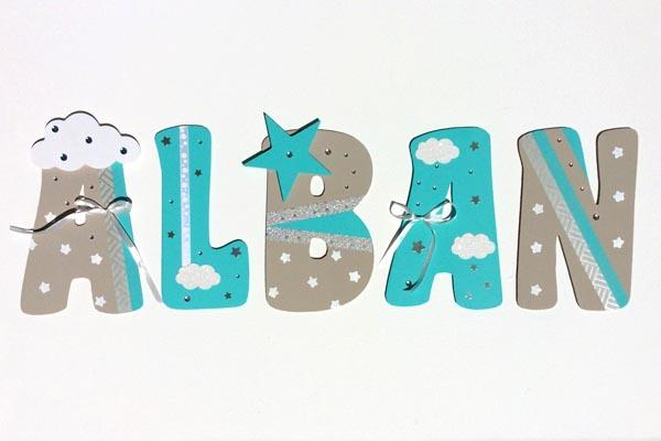 lettres en bois Alban