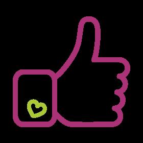 lettres en bois icone facebook-like accueil