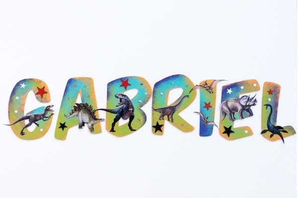 lettres en bois Gabriel