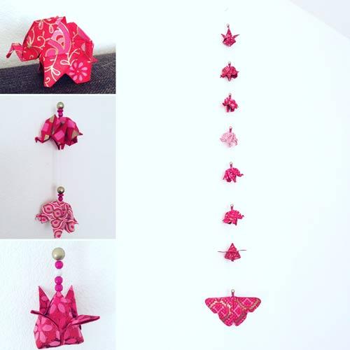 idées cadeaux et décorations guirlande-origami-elephants