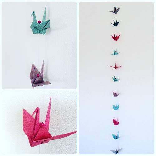 idées cadeaux et décorations guirlande-origami-grues-couleurs
