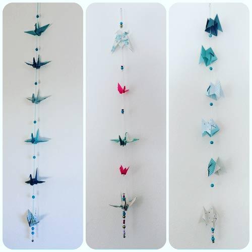 idées cadeaux et décorations guirlandes-origami
