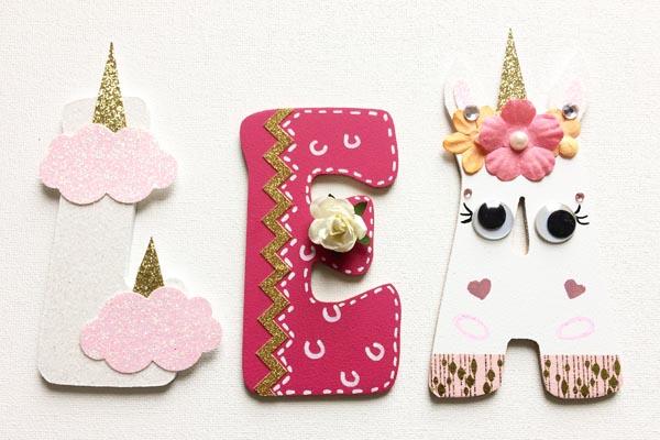 lettres en bois prénoms personnalisés filles