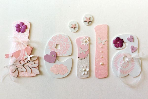 lettres en bois Leila