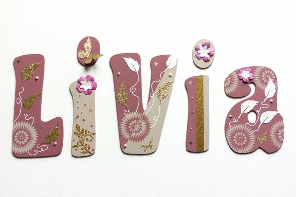 lettres en bois Livia