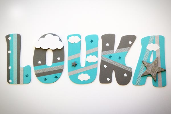 lettres en bois Louka