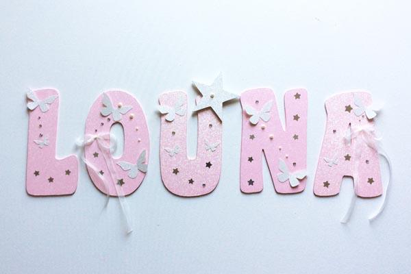 lettres en bois Louna