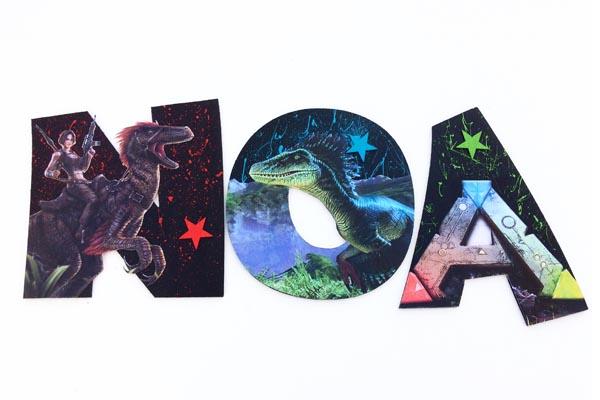 lettres en bois Noa